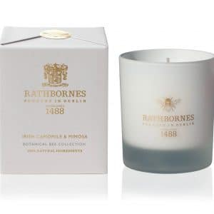 Camomile & Mimosa Botanical Candle Botanical Bee Collection by Rathbornes of Dublin
