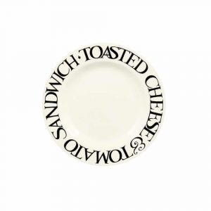 "Emma Bridgewater Black Toast Cheese & Tomato 6 1/2"" Pl"