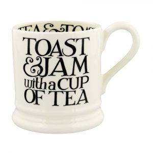 Emma Bridgewater Black Toast Toast & Jam 1/2 Pint Mug