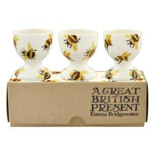 Emma Bridgewater Bumblebee Set Of 3 Egg Cups