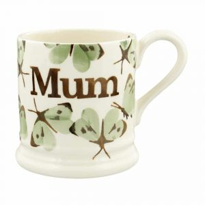 Emma Bridgewater Green Cabbage White Butterfly Mum 1/2 Pint Mug