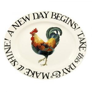 Emma Bridgewater Rise & Shine A New Day Begins Medium Oval Platter