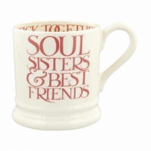 Emma Bridgewater Pink Toast Soul Sisters 1/2 Pint Mug