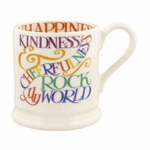 Emma Bridgewater Rainbow Toast Kindness & Cheerfulness 1/2 Pint Mug