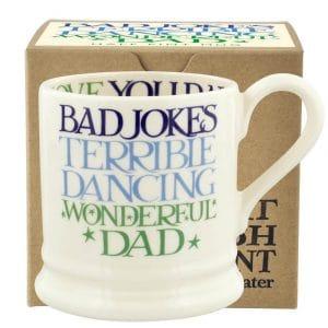 Emma Bridgewater Blue & Green Toast Wonderful Dad 1/2 Pint Mug