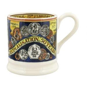 Emma Bridgewater Pounds, Shillings And Pence 1/2 Pint Mug