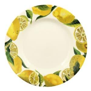 """Emma Bridgewater Vegetable Garden Lemons 10 1/2"""" Inch Plate"""