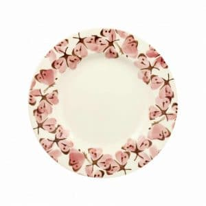 "Emma Bridgewater Pink Cabbage White Butterfly 8 1/2"" Plate"