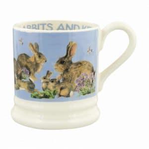 Emma Bridgewater Bright New Morning Rabbits & Kits 1/2 Pint Mug