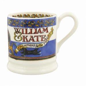 Emma Bridgewater Events William & Kate 10th Anniversary 1/2 Pint Mug