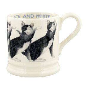 Emma Bridgewater Cats Black & White Cat 1/2 Pint Mug