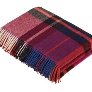 Madison Throw - Check Mulberry - Bronte by Moon