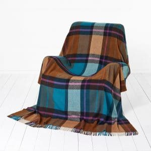 Madison Throw - Check Teal - Bronte by Moon