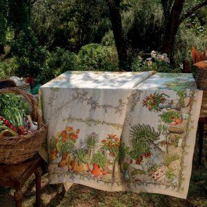 Balcon Potager 100% Italian Linen Tablecloth