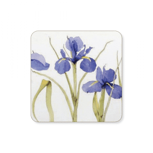 Blue Iris Coaster - Made in the UK