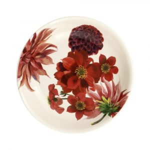 Emma Bridgewater Flowers Red & Pink Dahlias Medium Pasta Bowl