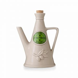 'The Milk' Ceramic Olive Oil Cruet (Grey, 750ml) Handmade in Italy