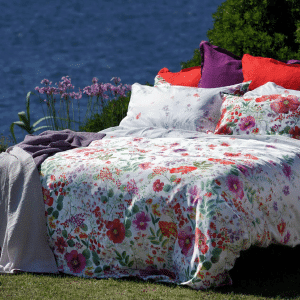Champ Fleuri Raso Quilted Bedspread - 100% Cotton Sateen - Made in Italy