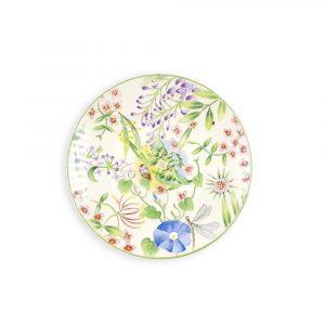 Vent de Fleurs Dessert Plate - by Lunéville of St Clement, France
