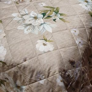 Sybylle Quilted Bedspread 100% Cotton Sateen Made in Italy