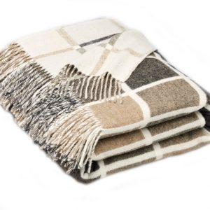Multicolour Collection Throw Natural Bronte by Moon