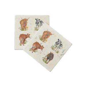 Cows Coasters (pair) - British Collection by Kate of Kensington