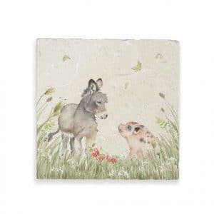 Donkey Foal & Piglet Large Platter – Country Companions by Kate of Kensington