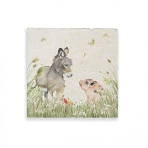 Donkey Foal & Piglet Medium Platter – Country Companions by Kate of Kensington