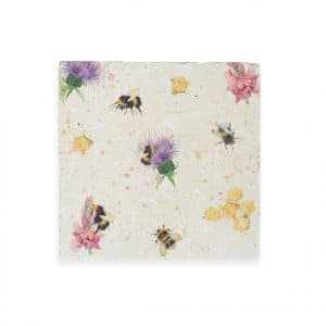 Thistles & Bees Medium Platter - Woodland Walk Collection by Kate of Kensington