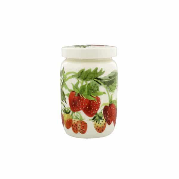 Emma Bridgewater Fruit Garden Strawberries Medium Jam Jar With Lid