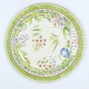 Vent de Fleurs Pie Plate by Lunéville of St Clement, France